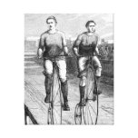 Victorian Bicycle Race Canvas Print