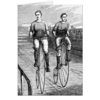 Victorian Bicycle Race Card