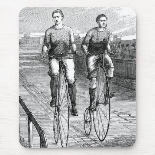 Victorian Bicycle Race Mouse Pad