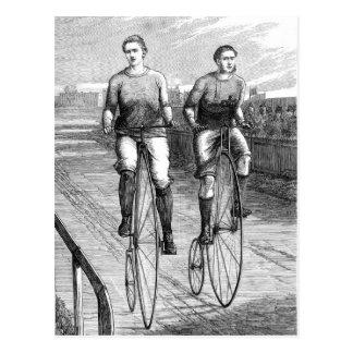 Victorian Bicycle Race Postcard