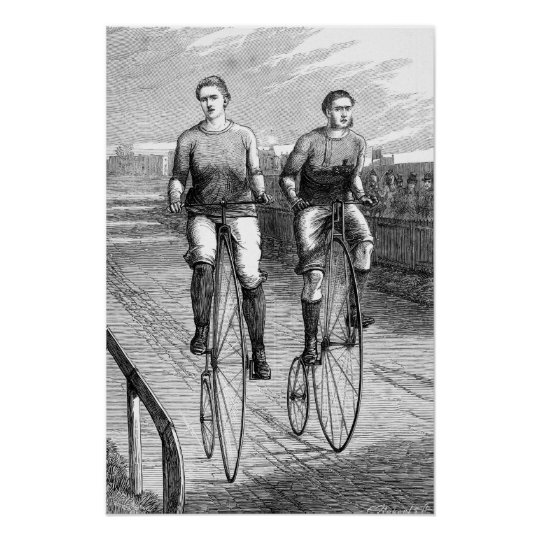 Victorian Bicycle Race Poster