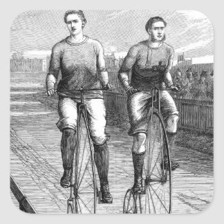 Victorian Bicycle Race Square Sticker