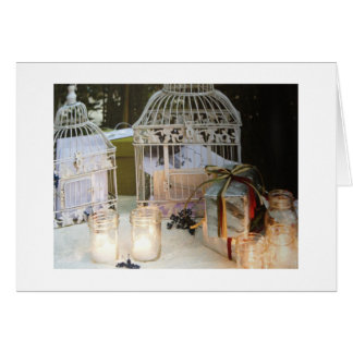 VICTORIAN BIRD CAGES FOR BRIDAL SHOWER CARD