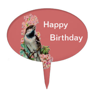 Victorian Bird Collection Cake Topper