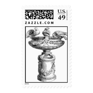 Victorian Birdbath Stamps