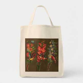 Victorian Birds and Blooms Tote Bag