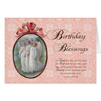 Victorian Birthday Blessings Greeting Card