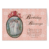 Victorian Birthday Blessings Greeting Cards
