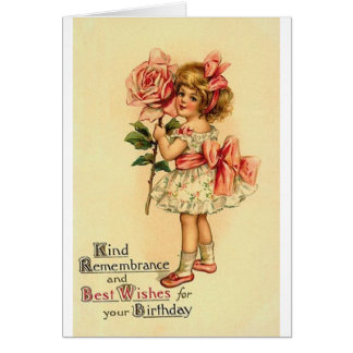 Victorian Birthday Greeting Card