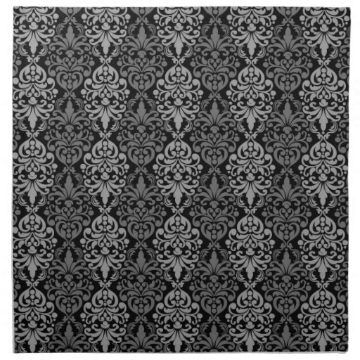 Victorian Black Grey Vintage Damask Lace Pattern Cloth ...