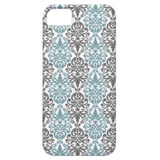 Victorian Blue Grey Vintage Damask Lace Pattern iPhone SE/5/5s Case