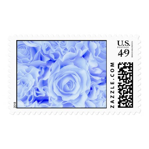 Victorian Blue Rose Bouquet, Weddings, & more Postage Stamp