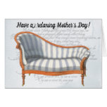 Victorian Blue Stripe Chaise Lounge Card