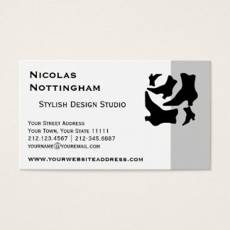Victorian Boots Black and White Vintage Fashion Business Card
