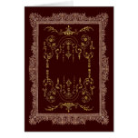 Victorian Borders brown and gold Greeting Card