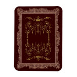 Victorian Borders brown and gold Rectangle Magnet