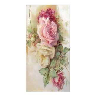 victorian bouquet of flowers photo card