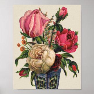 Victorian Bouquet Poster