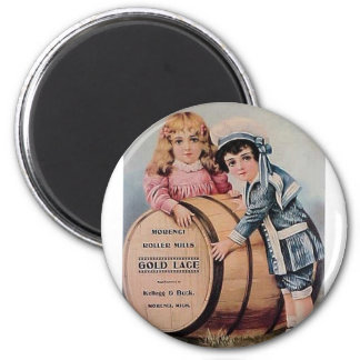 Victorian Boy and Girl 2 Inch Round Magnet