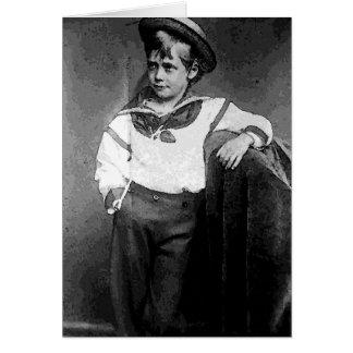 Victorian Boy Card