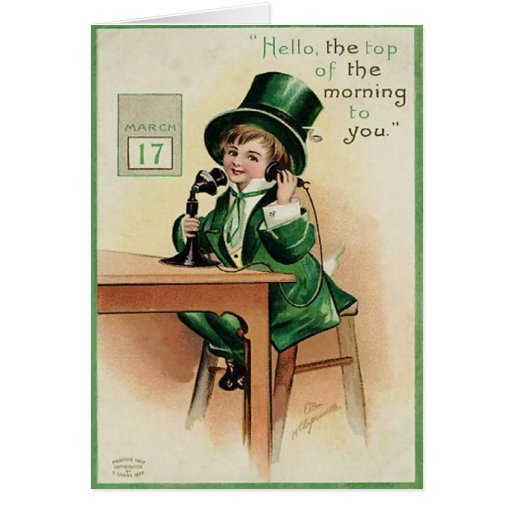 Victorian Boy St. Patrick's Day Greeting Card