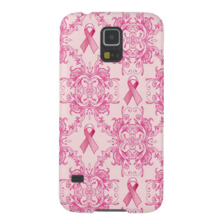 Victorian Breast Cancer Ribbon Damask Products Galaxy S5 Case