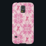 "Victorian Breast Cancer Ribbon Damask Products Galaxy S5 Cover<br><div class=""desc"">Beautiful Victorian Breast Cancer Damask Pattern. Give hope and spread your message.  With much love and consideration,  Kristy Patterson Design.</div>"