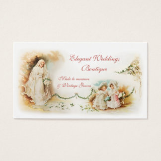 Victorian bridal gown wedding business card