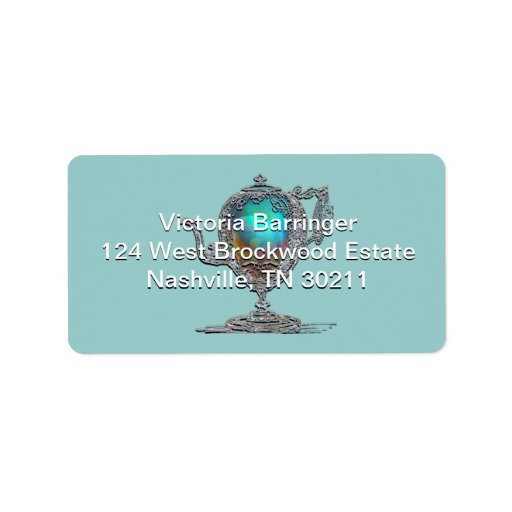 Victorian Bridal Shower Tea Party Custom Address Labels