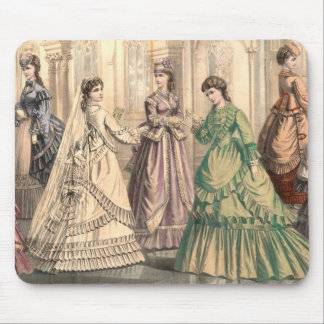 Victorian Bride and Attendants Mouse Pad