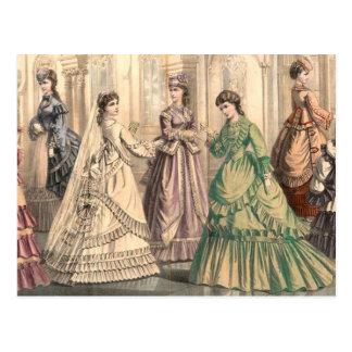 Victorian Bride and Attendants Postcard