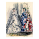 """Victorian Bride and Maids of Honor"" Postcard"