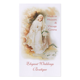 Victorian bride bridal gown wedding business card