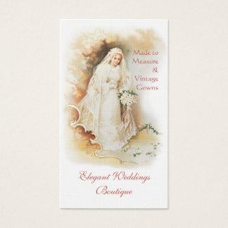 Victorian bride bridal gown wedding business card