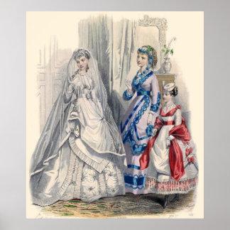 Victorian Bride Illistrate Poster Print