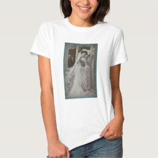 Victorian Bride Portrait print tee shirt