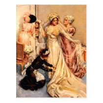 Victorian Bride To Be Postcard