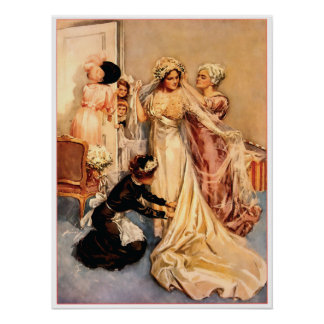Victorian Bride To Be Poster