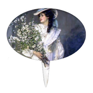 Victorian bride wedding fashion cake topper
