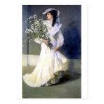 Victorian Bride Wedding Fashion Postcard at Zazzle