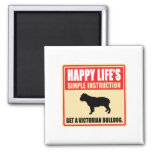 Victorian Bulldog Fridge Magnets