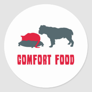 Victorian Bulldog Round Stickers