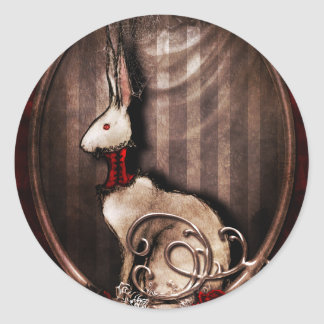 Victorian Bunneh Classic Round Sticker