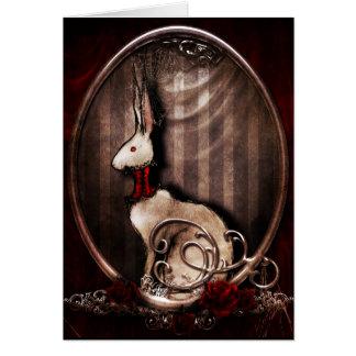 Victorian Bunneh Greeting Card