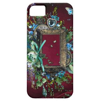 Victorian Burgundy Mist Lavender Wisteria frame iPhone SE/5/5s Case