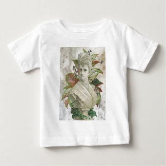Victorian Bust Of Woman With Green Plants Baby T-Shirt