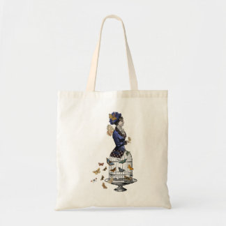 Victorian Butterfly Birdcage Steampunk Woman Tote