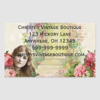Victorian Cabbage Roses Woman Floral Stickers