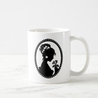 Victorian Cameo Silhouette Coffee Mug