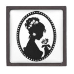Victorian Cameo Silhouette Premium Jewelry Boxes